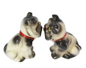 Winking Bull Dogs Salt and Pepper Shakers