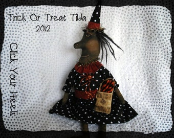 E Pattern Trick Or Treat Tilda The Black Witch Primitive Pattern