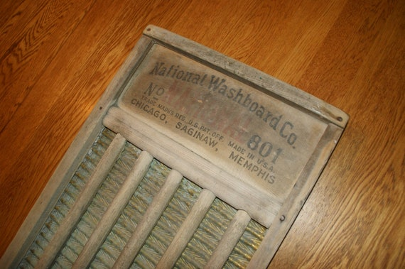 Vintage Washboard Circa 1930s Brass King