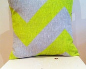 Neon Yellow Fat Chevron - insert included - Wildly comfortably throw cushion in neon yellow