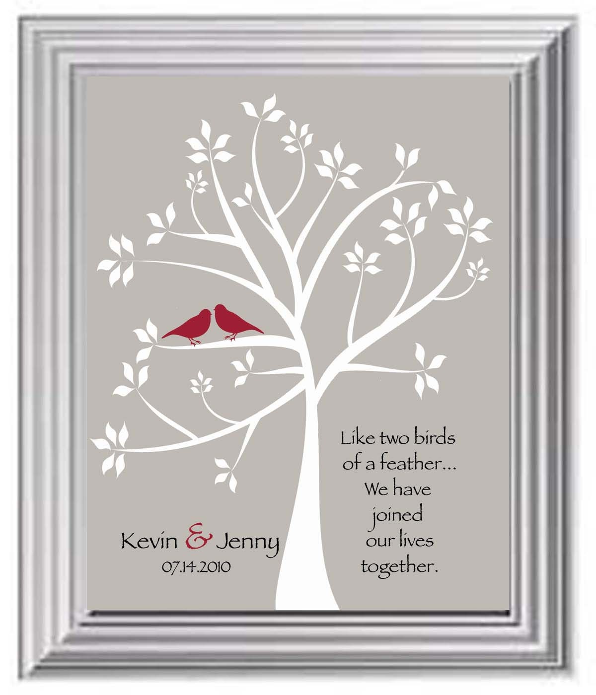 Wedding Gifts For Couples: Valentine's Day Gift Couple's Names Print By