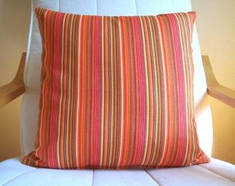 1(Pcs) Striped pillow cover Decorative pillow  Throw pillow 18'' x 18''  1 pieces pillow case - Multicolor