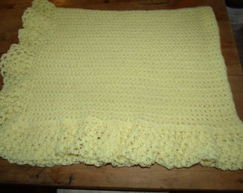 Baby's Own Petal Stitch Afghan Bordered with Love Knots