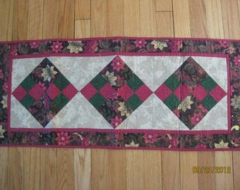 Brown Print Table Runner