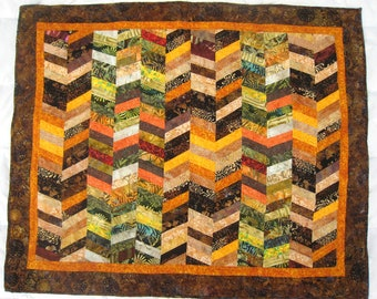 Late Autumn - quilted wall-hanging