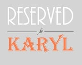 Reserved for Karyl - Payments on bridal party package