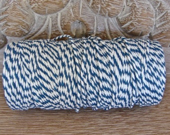 Baker's Twine - Blue and White Twine - Full 100 Yard Spool
