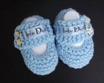 baby boots/ booties loafer with designer ribbon