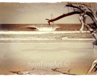 "Lost Island Point - Surf Art - Retro - Fine Art Photography - 10""X7""  - Home Decor"