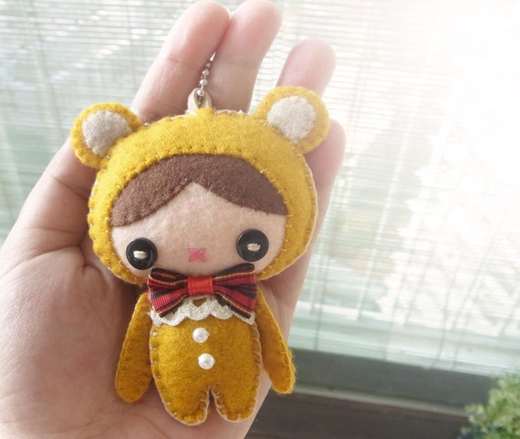 Felt Keychain -  Keychain -  cute keychain -  Kawaii keychain - READY TO SHIP