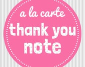 Matching Thank You Note - personalised - A la Carte
