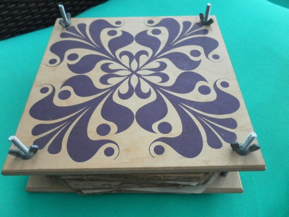 Handcrafted sturdy wooden flower press it is 7inches square