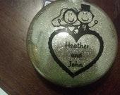 Personalized Glitter Ornament