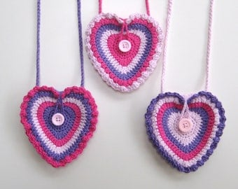 Crochet Bag Strap : Crochet Pattern Heart purse bag INSTANT DOWNLOAD PDF, girls, with loop ...