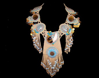 Necklace - Southwest Seed Bead Ceremonial Dance Necklace