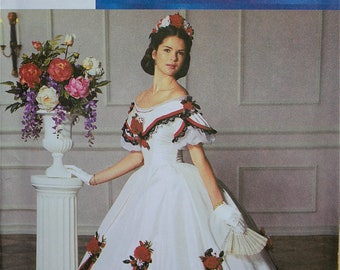 Designer Ball Gown by Martha McCain The Fashion Historian Simplicity Pattern 5724  Uncut   Size 6-8-10-12, 14-16-18-20