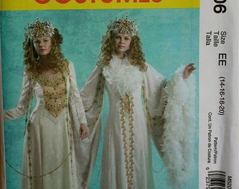 Snow Queen Costumes McCall's Pattern 5206  Uncut   Size 14-16-18-20  Bust 36-38-40-42""
