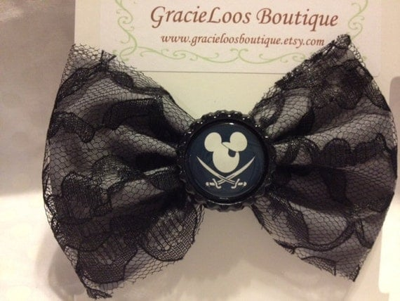 Disney Inspired Mickey Mouse Pirate Bow