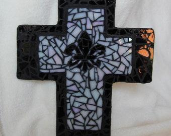 La Fleur De Lis Mosaic Cross