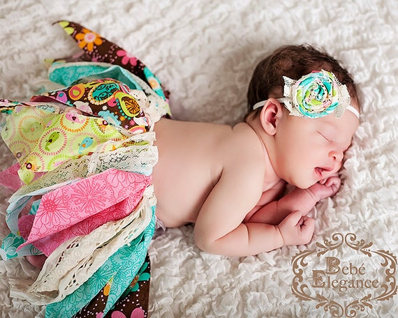 Rag and Lace Tutu with Matching Headband NEWBORN