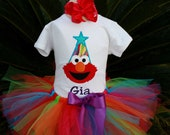 Elmo Birthday tutu set