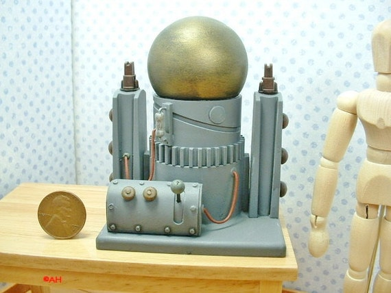 Dollhouse Miniature Mad Science Laboratory Equipment D112 1:12 Scale Model Spooky Weird Sci Fi Halloween Accessory Victorian Scientist Lair