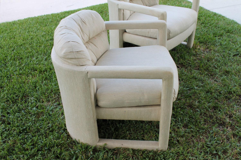 Vintage Drexel Heritage Pair Chairs Tub Barrel By