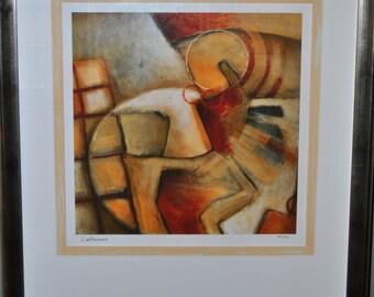 """Framed, Matted Giclee by DeRosier entitled, """"Primarian I"""""""