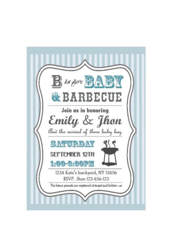 baby q | etsy, Baby shower invitations