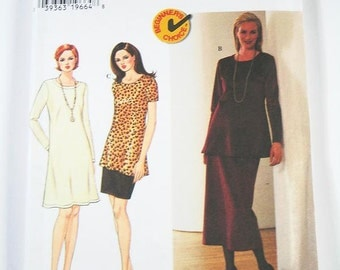 Simplicity Pattern 7440 - Misses' Dress, Tunic and Skirt - Sz 14/16/18