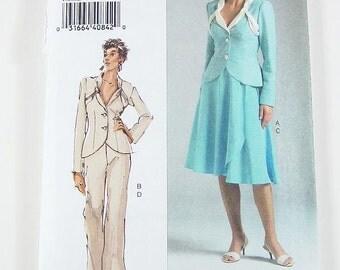Sz 12/14/16 Vogue Separates Pattern V8266 - Misses' Jacket, Pants and Skirt
