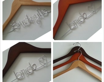 Not so perfect personalized bridal hanger /wedding hanger/ flawed wood bridal hanger