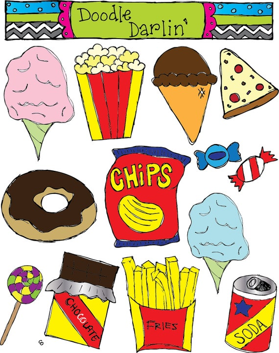 items similar to junk food clipart set instant download on junk food clip art junk food clipart free