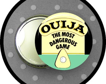 "Ouija Board game 2.25 inch pocket MIRROR, button or magnet 2 1/4"" size"