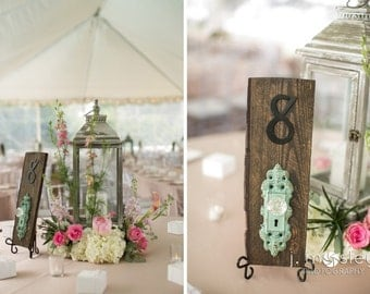 Vintage Door Knob Table Numbers