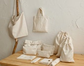 Organic Cotton White Convas Fabric by the Yard Pure Color for Handmade Bag,Cushion,Sofa