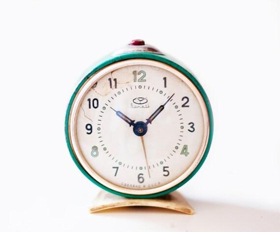 "Vintage soviet mechanical alarm clock ""Vitjaz"""