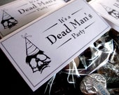 PRINTABLE - Dead Man's Party Halloween Folding Candy Tags