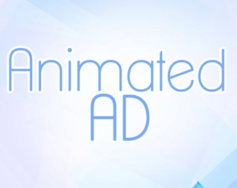 Animated Ad Button Custom Design Set of 2