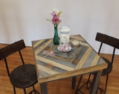 Reclaimed Pallet and Barn Wood Pub Bistro Kitchen End Table - Pyxis