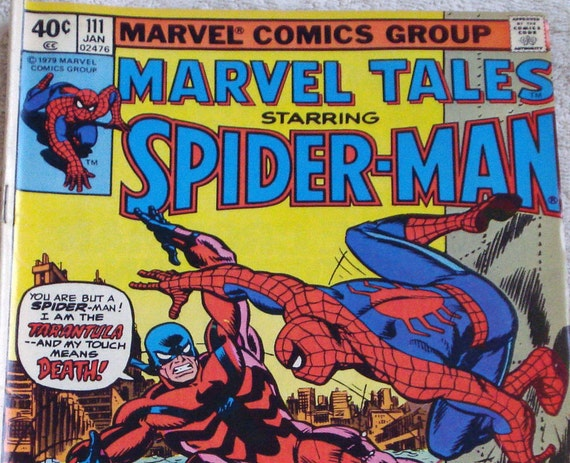 Spider-Man Comic Book  Marvel Tales Vol. 1, No. 111, Jan 1979