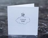 Cloud 9 Card - Romance Card - Love -  Stickman Couple