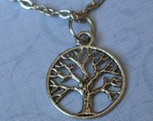 Tree charm necklace, tree of life, tree charm, tree necklace