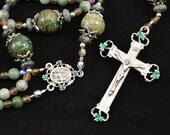 St. Patricks Irish Heirloom Russian Jade Rosary
