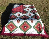 ON SALE! Rose Medallion Twin Size Quilt