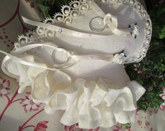 Wedding Bearer ring pillow, Ring bearer pillow OAK,