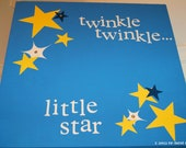 twinkle, twinkle children's wall art