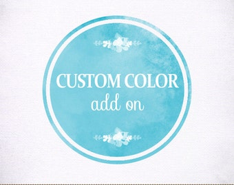 Logo Color Change Add On - for Photographer, Photograhy, Small Business
