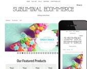 Minimalistic White WordPress Ecommerce Website Design / Premade Website Template