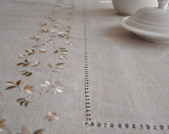 63x90 Inches, Hemstitched  Linen Tablecloths,  Oblong , NEW